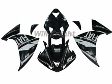 For Yahama YZF1000 YZF R1 2009 2010 2011 2012 ABS Injection Molding Bodywork Fairing Kit Black White