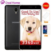 Case+film)gift!Original Doogee x10 3360 Mah 3G WCDMA Android 7.0 8GB ROM MTK6570 5.0MP Camera Dual SIM 5.0 inch IPS Cell Phone(China)
