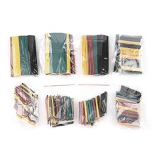 328Pcs 5 Colors 8 Sizes 2:1 Heat Shrink Tubing Wrap Connection Sleeve Kit 2016 In Stock