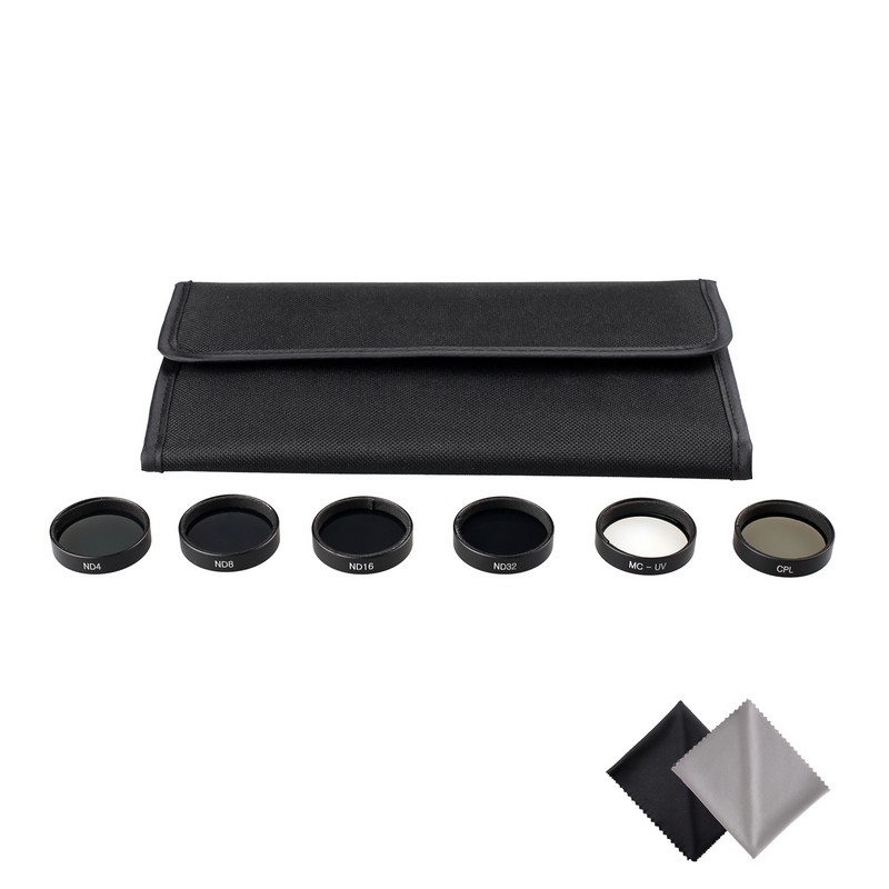 SAMTIAN Practical 6PCS Camera Filter Lens Set CPL Polarizer +ND4+ND8+ND16+ND32 + MCUV for DJI Phantom 4 Phantom 3 Pro