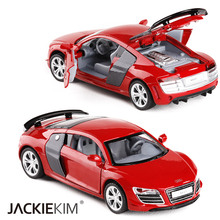 High Simulation Exquisite 1:32 Audi R8 GT Super Sports Car Alloy Diecast Model Toy Car Diecasts Toy Vehicles For Kids Toys Gifts(China)