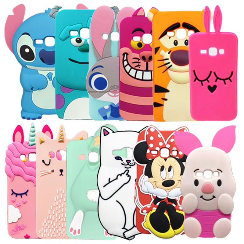 Samsung Galaxy J1 2016 Case Cute Cartoon Soft Silicone Back Phone Cover Capa Samsung Galaxy J1, 2016 J120F J120 Fundas