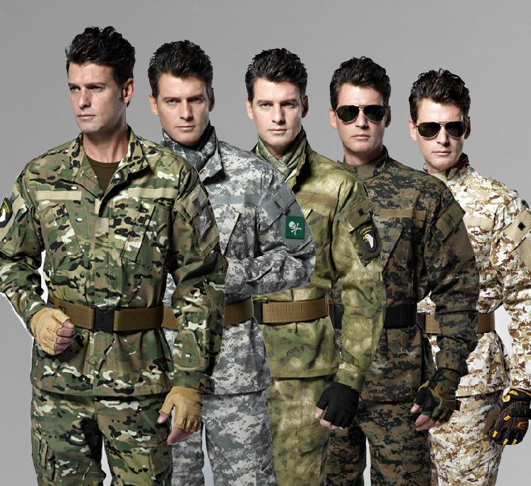 9 color Camouflage Army Uniform Military High Quality Uniform Suit Combat Tactical Camouflage Uniform<br><br>Aliexpress