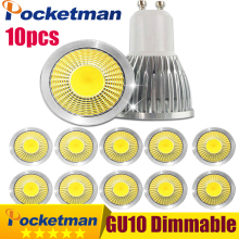Gu10 Led Dimmable Led Spotlight Bulb Light 15W 10W 7W Gu10 Led Cob Spot Light Lamp Gu10 Led Bulb AC85-265v Lampada 10pcs