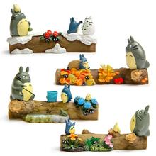 Studio Ghibli My Neighbor Totoro Toy DIY Hayao Miyazaki Four Season Totoro Mini Resin Action Figures Toys Collection Model Toy