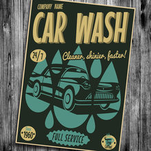Classic Car Wash Wall Sticker Vintage Retro Posters Motivational Poster Hanging Decorative Print Painting Poster Walls Paper(China)