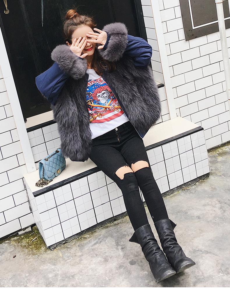 new styles fox fur jacket for women (10)