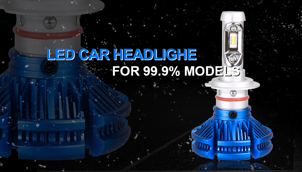 H4 Led CSP Chips H7 LED Headlights Auto-styling Led Car Bulb H1 H11 Fog Lamp Fanless (1)