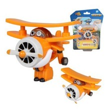 Best Sales 7cm Super Wings ABS Planes Transformation robot Airplane Robots Brinquedos JETT Action Figure Toys Gifts For Kids(China)