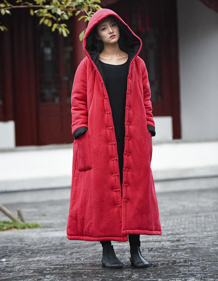 female winter hooded cape (3)