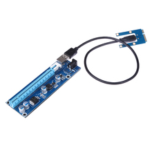 Mini PCI-E pci express riser card 1x to 16x USB 3.0 Data Cable DC 12V to take power for digging bitcoin Ethernet(China)