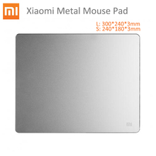 Original Xiaomi Aluminum Metal Mouse Mice Pad Mat 18*24cm*3mm 30*24cm*3mm Luxury Simple Slim Computer Frosted for Wow Lol Dota 2