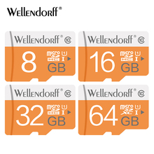 wellendroff Micro SD Memory Card 4G 8G16G 32G 64G TF Cards Class 10 SDHC SDXC Trans Flash Micro Card