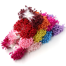 300PCS Artificial Flower Double Heads Stamen Pearlized Craft Cards Cakes&Home Wedding Decoration Floral DIY Wreath Accessories