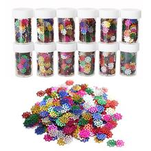 12 Bottles Glitter Shiny Colorful Sequins Spangles For Children Kids DIY Arts And Crafts Painting Party Christmas Decoration