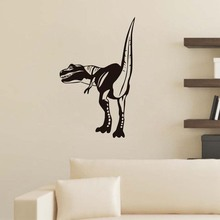 Factory Price High Quality T-Rex Home Decor Removable Waterproof Animal Dinosaur Silhouette Wall Decals For Kids Room(China)