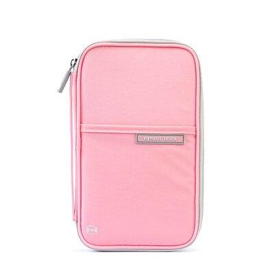 Organizador de documentos de viaje color rosa