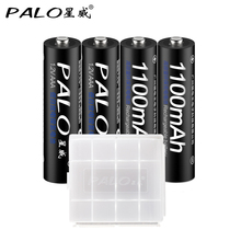 Wholesale 4 X PALO Bateria AAA Batteries NI-MH 1100mAh Low-Self discharge AAA Rechargeable 3A Battery Batteries For Microphone