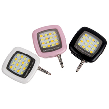 Cell Phone Camera Fill Light Mini 3.5mm Smartphone Portable 16 Leds LED Flash Fill Light For iPhone IOS Android #KF(China)