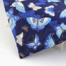 0.5 meter Bronzing fabric butterfly diy felt cloth for home textile sewing patchwork craft material furniture bag fabric tissu