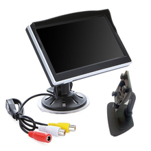"5"" 5 inch Digital car monitor mirror monitor TFT LCD 16:9 screen Car Rearview Monitor for car Camera sucker monitor(China)"