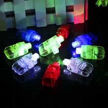 TAOS 100 PCS Mixed Shell Color LED Finger White Flashlight Lights Lamp Toy Party Birthday Halloween Christmas Concert Decoration(China)