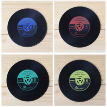 1 Piece Lytwtw's Vintage Record Coasters Dining Table Placemat Coaster Kitchen Accessories Mat Cup Bar Mug Drink Pads(China)