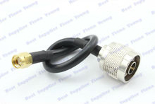50 pcslot Straight N Male Plug to Straight RP SMA Male Plug 10cm RG58 Coaxial Extension Pigtail Cable Free Shipping