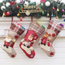 Christmas Xmas Embroidered Christmas Stocking Sock Gift Candy Hanging Bag Santa Claus Snowman Hotel Home Decoration(China)