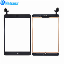 Netcosy Touch Panel For ipad Mini 1 2 Touch Screen Digitizer Home Button Assembly with IC conector for ipad mini 1 & 2(China)