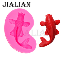 HOT Selling 3D Marine life fish Mould DIY Fondant Kitchen Cake decoration Mold for Chocolate Baking Tools T0536