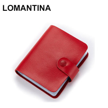 Best Gifts Big Capacity Bank Credit Name Business Cards Bag Book Men&Women's 60 Card places Leather Card Holder