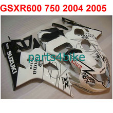 White black lines gsxr 600 Fairing kit For Suzuki 750 2004 2005 04 05 ( 100%New) High quality fairings free Windscreen m29