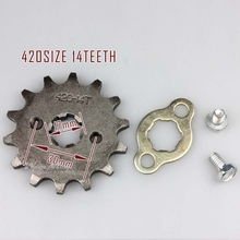 420-14T 17mm Front Sprocket 420 Size 14 Teeth for Motorcycle ATV Dirtbike(China)