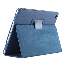 Business Flip Litchi Leather Case Smart Stand Holder For Apple ipad2 3 4 Magnetic Auto Wake Up Sleep CoverDark Blue(China)