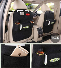 2pcs stowing Tidying Multi Pocket Felt Car Styling Back Seat black Storage Pouch Bottle Magazine Cup Food Bag iPad Phone