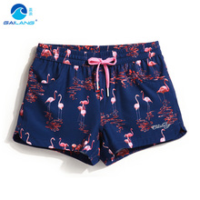 Couple board shorts swimming trunks liner joggers running sweat swimsuit beach surf boardshort sport Fitness plus sexy swimwear(China)