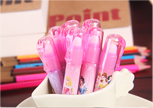 5Pcs/set Kawaii lovely cartoon princess lipstick style pencil eraser school students gils gift prize 10.5*1.6cm(China)