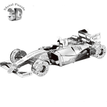 3D Metal Puzzles DIY Jigsaw Puzzle Earth Laser Cut Model Gift for Children Educational Toys F1 Racing Car