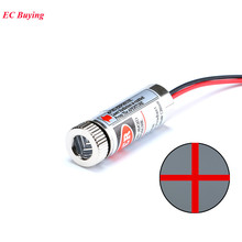 650nm 5mW Focus Adjustable Laser Head Red Cross Line Laser Diodes Module Metal Glass Lens Head Industrial Diameter 12MM 5V(China)
