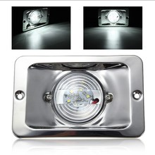 White LED Square Marine Stainless Steel Transom Ship Lights Boat Lights Navigation Lamp DC 12V Waterproof