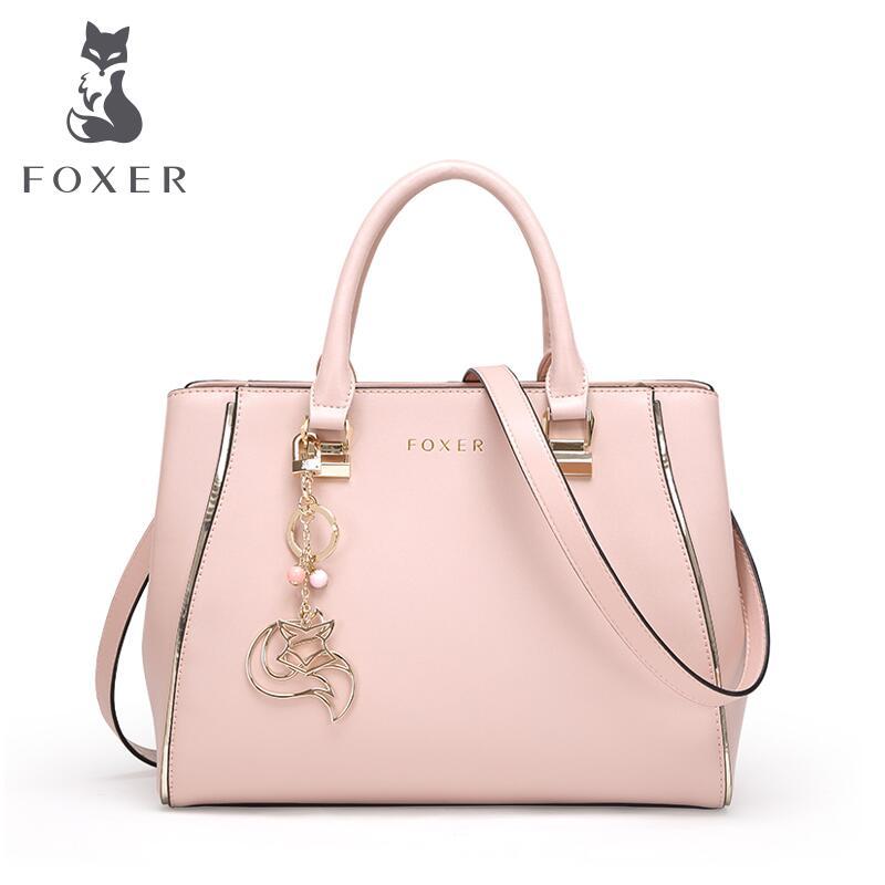 FOXER brand women bag 2016 new women leather bag fashion designers quality women leather handbag shoulder bag cowhide female bag<br><br>Aliexpress