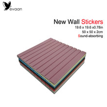 2017 New Home Decor Acoustic Foam Panels  19.6*19.6*0.78inch Stripe Shape Wall Stickers Sound Absorbing Material Decor EVAAN
