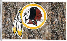 Football Washington Redskins Logo Camo Outdoor Flag Banner 3ft x 5ft Size No.4 144* 96cm Custom flag