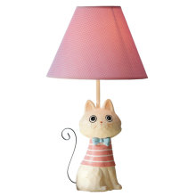 New Cute Rabbit Style Kid's Gift Table Lamp Rose Red Linen Lampshade Children Study Reading Desk Lamp For Kid's Room 45x25x15cm