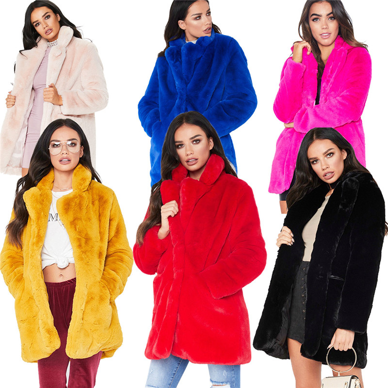 2018 winter women faux fur coat outwear-2