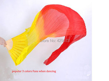 Hot-selling long belly dance Fan Veil hand-made sew with 180cm length nice color