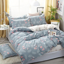 4pcs/set Cozy Bedroom Necessity Leaf Bird Printing Bedding Set Bed Linings Duvet Cover Bed Sheet Pillowcases Cover Set(China)