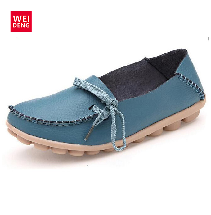 2017 5 Colors Spring Women Gommino Moccasin Genuine Leather Flat Loafer Casual Lady Slip On Cow Driving Fashion Ballet Boat Shoe<br><br>Aliexpress