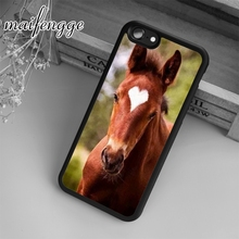 maifengge Chesnut Horse Beautiful Heart Marking Colt Case For iPhone 6 6S 7 8 Plus X 5 5S SE Case cover for Samsung S5 S6 S7(China)